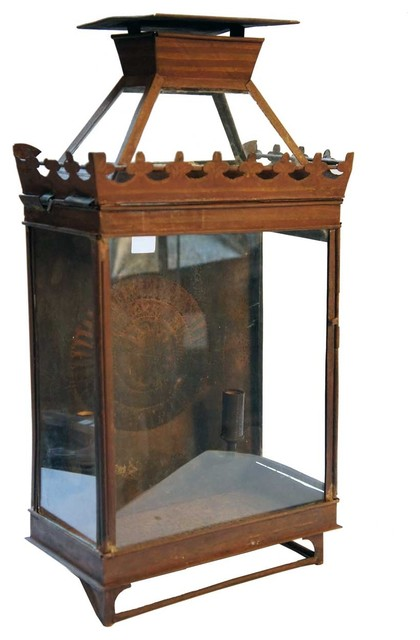 Anglo Indian Toleware Two-Light Wall Lantern traditional-wall-sconces