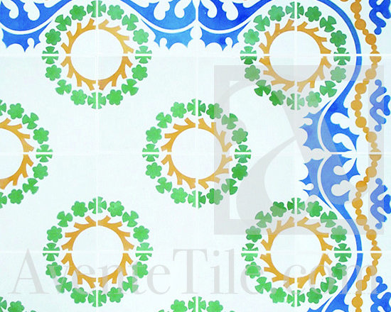 "Traditional Sevilla Cement Tile 8"" x 8"" -"
