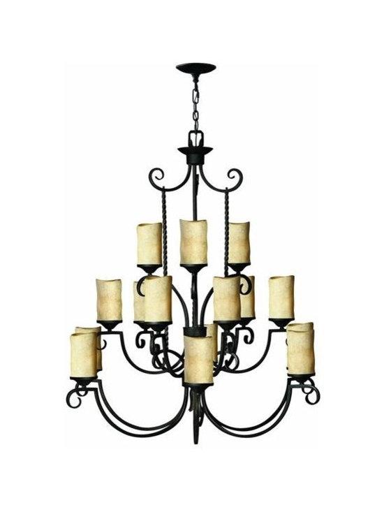 Hinkley Lighting 4019OL 3 Tier 15 Light Chandelier Casa Collection -
