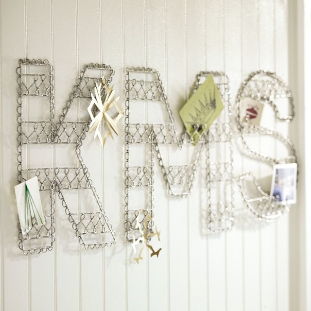 Wire Glitter Letters contemporary-home-decor