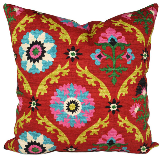 Waverly Decorative Throw Pillows : Waverly Mayan Medallion Throw Pillow, Desert Flower - Traditional - Decorative Pillows - by Land ...