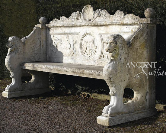 Benches out of Antique Limestone - By 'Ancient Surfaces'