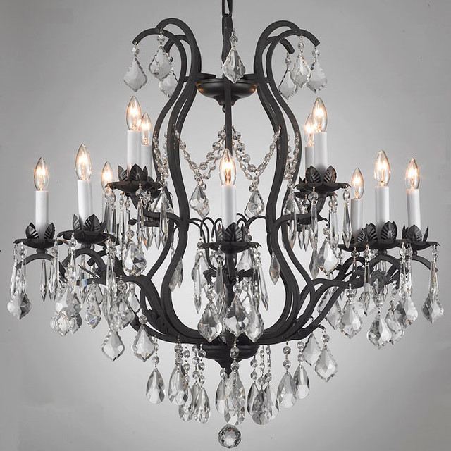 Regent Iron 12-light Chandelier contemporary chandeliers