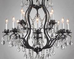 Regent Iron 12-light Chandelier contemporary-chandeliers