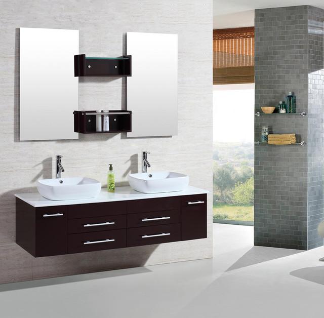 Wall Mounted Under Sink Bathroom Storage Cabinet Portland: Kokols 60 Inch Wall Mount Floating Bathroom Vanity Cabinet