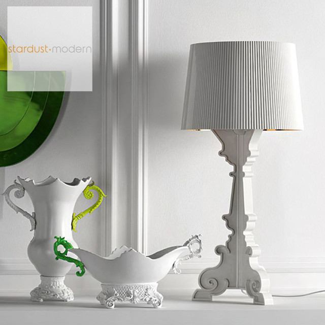Kartell Bourgie Lamp in White contemporary-table-lamps