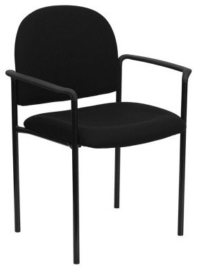 Stackable Steel Side Chair with Arms modern-living-room-chairs