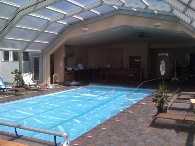 Indoor Pool Setting With Our Retractable Pool Enclosures Modern Other Metro By Covers In Play