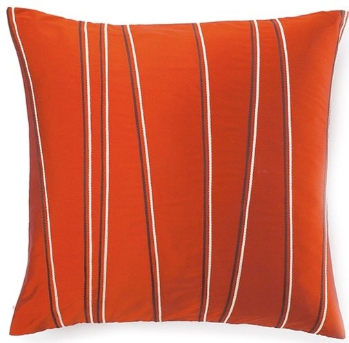 Diagonal Poly Square Pillow in Orange modern-decorative-pillows