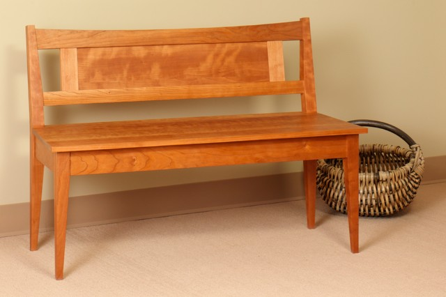 Shaker Bench With Low Back Traditional Indoor Benches