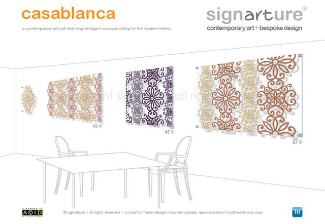 signarture 'casablanca' perspex artworks contemporary-artwork
