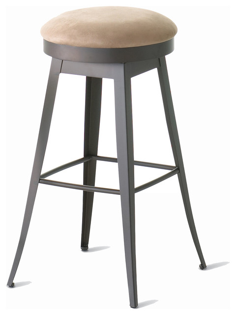 amisco grace backless swivel stool 42414 34 inches spectator height transitional bar. Black Bedroom Furniture Sets. Home Design Ideas