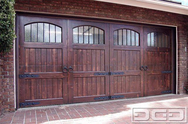 Architectural garage door with iron hardware garage doors and openers
