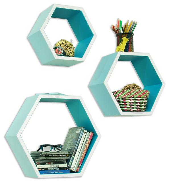 ... Wall Shelf / Bookshelf / Floating Shelf Set of 3 contemporary-display