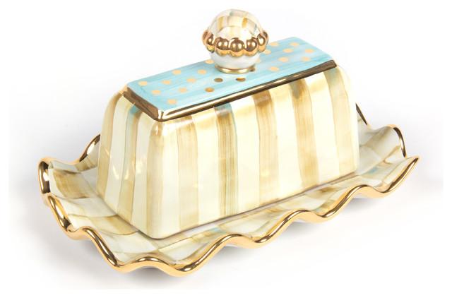 Parchment Check Butterhouse   MacKenzie-Childs eclectic-serving-utensils