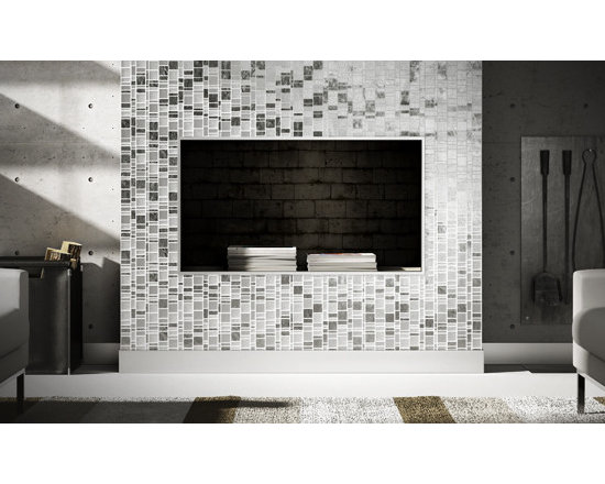 White Horse Laliberte glass tile mosaic