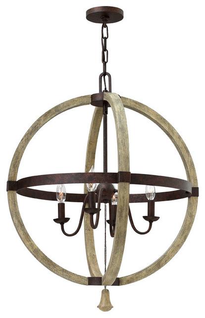 Fredrick Ramond Middlefield 4-Light Sphere Chandelier farmhouse-chandeliers