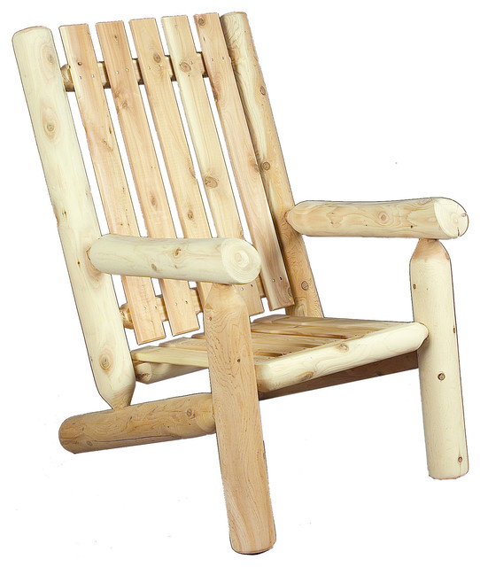 "Rustic Natural Cedar A High Back 28"" Arm Chair Rustic Outdoor"