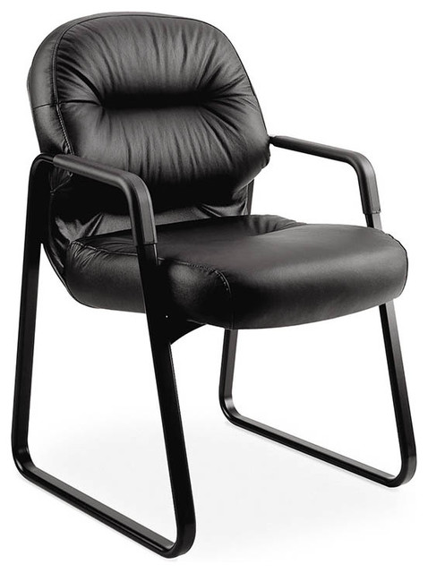 HON Pillow-Soft Guest Chair, Sled Base, Arms contemporary-task-chairs
