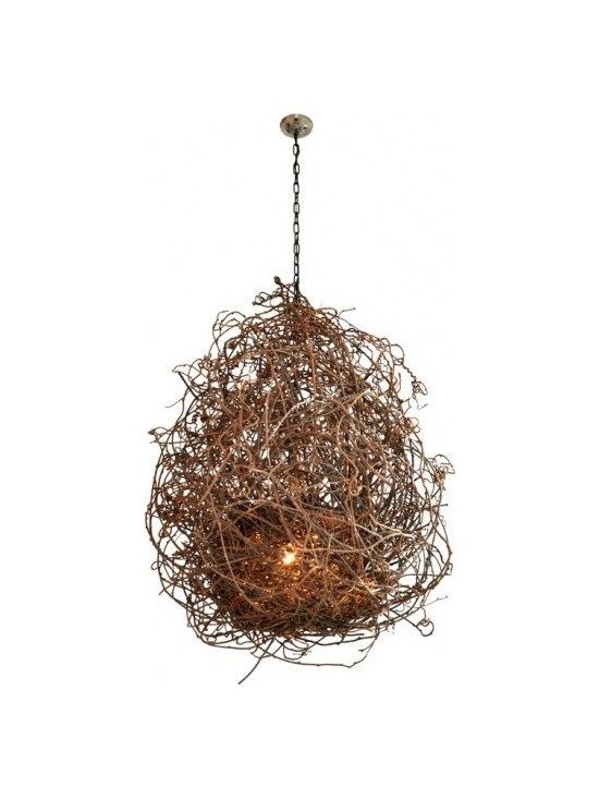 "Eco Friendly Furnture and Lighting - Kiwi Vine ""Nest"" Chandelier"