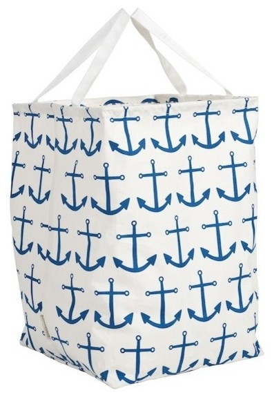 Blue Anchor Canvas Storeall Storage Container beach-style-storage-bins-and-boxes
