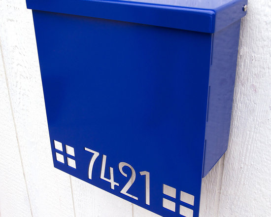 Custom Mission Edition House Number Mailbox No. 1310 Drop Front in Powder Coated -