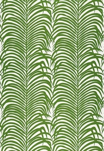 Zebra Palm Linen Print Fabric, Jungle contemporary-fabric