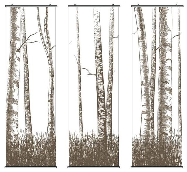 Inhabit - Timber Triptic Slat Set modern-home-decor