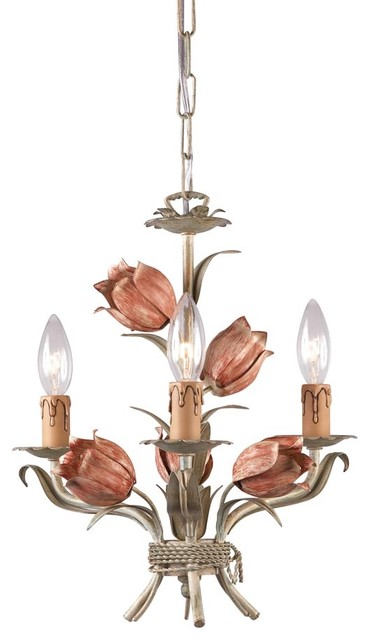 4803-SR Southport Handpainted Wrought Iron Mini Chandelier ...