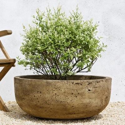 Campania International Large Mesa Cast Stone Planter - P-438-AL - Contemporary - Outdoor Pots ...