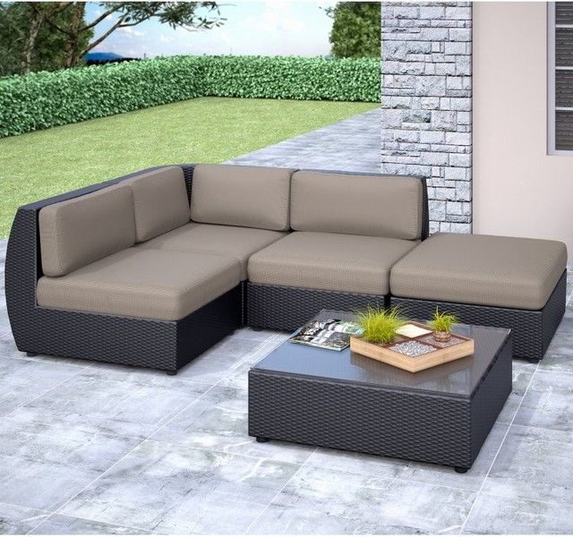 CorLiving Seattle Curved Armless Sectional Conversation Set PPS 601 Z Con