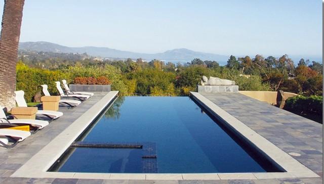 Foothill Infinity Pool Santa Barbara Ca Mediterranean