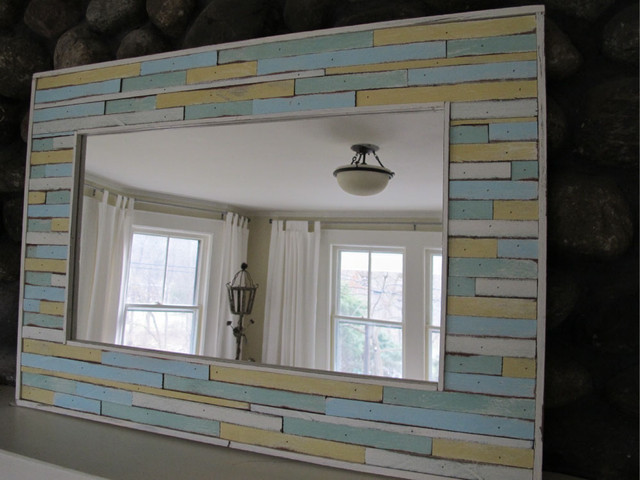 Custom cottage mirror beach-style