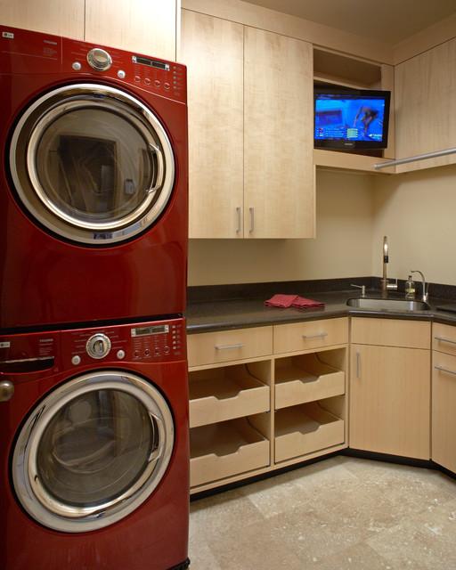 Northwest Portland Condo contemporary-laundry-room