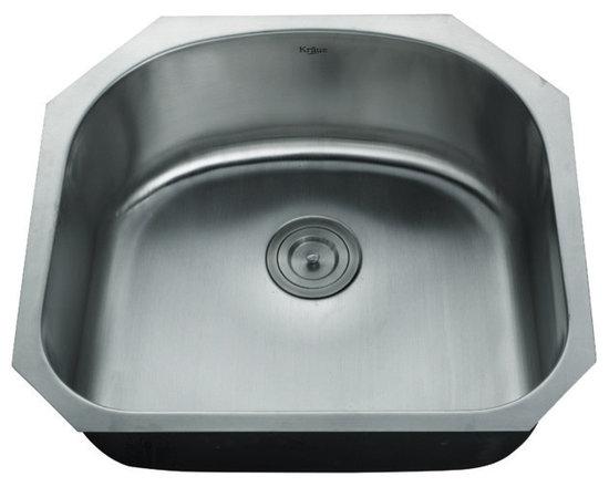 "Kraus - Kraus KBU10-KPF2220-KSD30CH 23"" Undermount Single Bowl Stainless Steel Sink, Sat - Add an elegant touch to your kitchen with unique Kraus kitchen combo"
