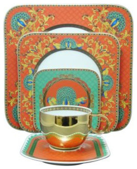 """Versace by Rosenthal """"Marco Polo"""" Dinnerware eclectic-dinnerware"""
