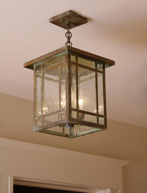 Ceiling light close up craftsman flush mount ceiling