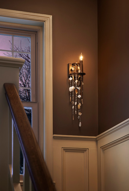 Murray Feiss WB1570HTBZ Cascade Heritage Bronze Wall Sconce eclectic-staircase