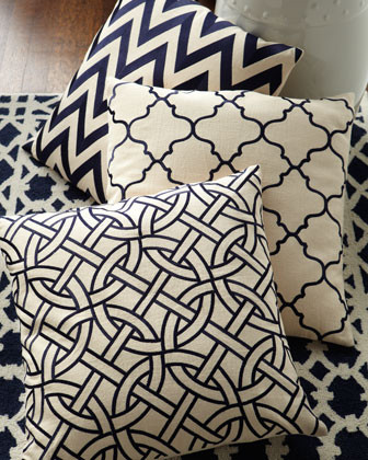 Moroccan Tile Pillow traditional pillows