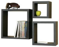 Victorian Cube 3-Piece Shelf Set contemporary-wall-shelves