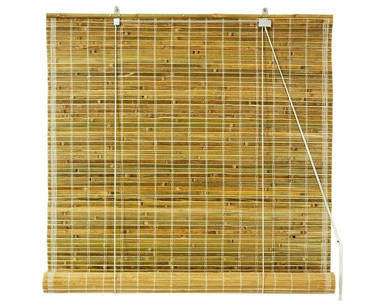 Oriental Unlimited - Burnt Bamboo Roll Up Blinds in Natural (72 in - Choose Size: 72 in. WideTransform your home into an island inspired paradise with the addition of these durable burnt bamboo roll up blinds, ideal for a sun porch, patio or any space with a relaxed, casual design. Available in your choice of sizes, the blinds are finished in natural for a warm, appeal. Burnt bamboo roll up blinds are a versatile addition to any window. They will fit in with any decor. Easy to hang and operate. 24 in. W x 72 in. H. 36 in. W x 72 in. H. 48 in. W x 72 in. H. 60 in. W x 72 in. H. 72 in. W x 72 in. H