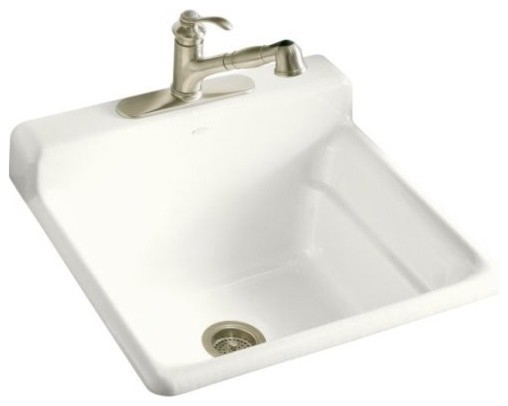 ... Utility/Laundry Sink with Single-Hole Fau traditional-kitchen-sinks