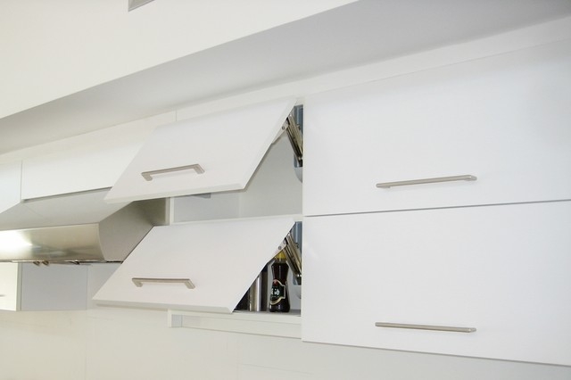 Kitchen Vertical Lifting Cabinet Doors - Modern - Kitchen - los angeles - by Cedar Hill Cabinets