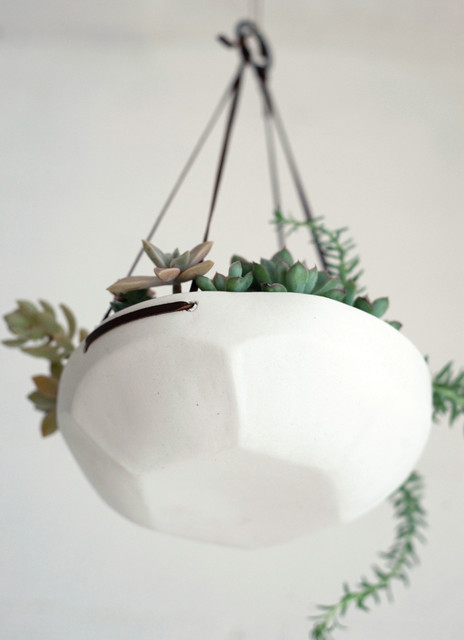 Faceted Hanging Tray - contemporary - indoor pots and planters ...