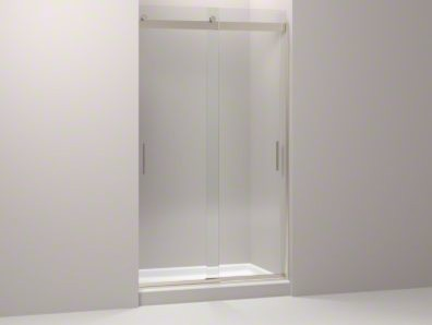 """KOHLER Levity Sliding Shower Door with Handle and 3/8"""" Crystal Clear Glass contemporary-bath-products"""
