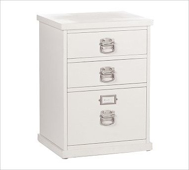 Bedford 3-Drawer File Cabinet, Antique White - Traditional - Filing Cabinets - by Pottery Barn