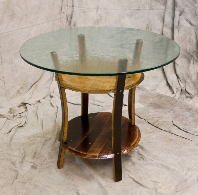 Wine Barrel Cafe Table Eclectic Furniture San Diego By MZ3D