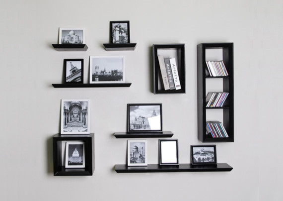 Floating Wall Shelf and Cube Shelves for Picture Solution - modern ...