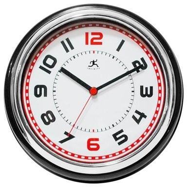 Infinity Instruments Boss 11.75-Inch Wall Clock modern-clocks