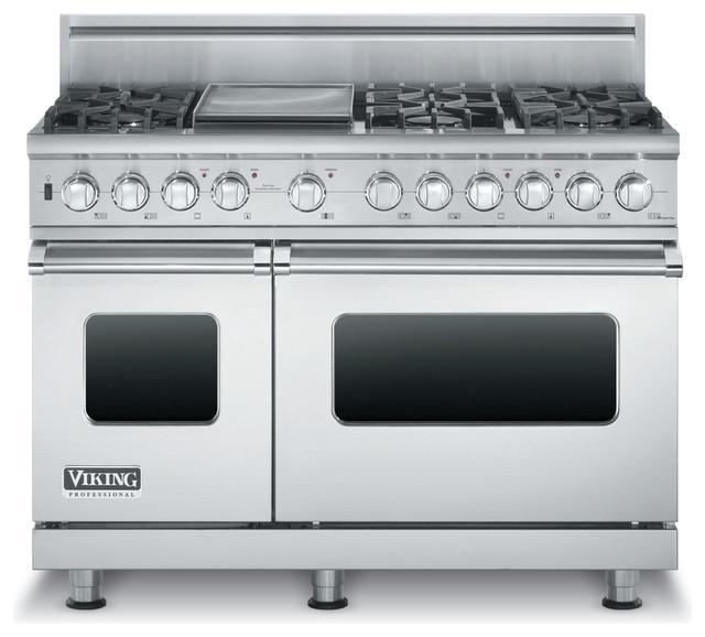 Viking 48 Pro Style Dual Fuel Range Stainless Steel